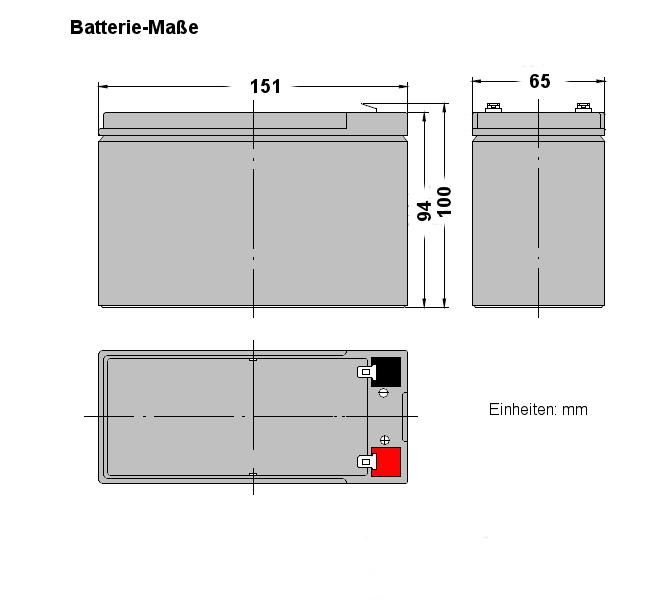 12V 7Ah AGM Blei Akku Batterie VDS F1 kompatibel 7,2Ah 9Ah 9,5Ah VISION CP1270